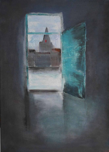 B3 Door onto Sint Gilliskerk 70x50cm Hollingsworth Paul