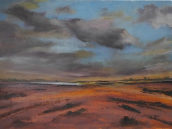 #106 Sunset, Wells Beach, Norfolk 60x80cm Hollingsworth Paul