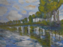#163 Peupliers sur l'Epte after Monet 76x102cm Hollingsworth Paul