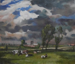 #167 Aldeby Norfolk after Seago 71x81cm Hollingsworth Paul