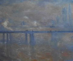 #252 Charing Cross Bridge after Monet 50x60cm Hollingsworth Paul