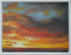 Nr257-Glazed-sunset-board-30x40cm-Mar2015
